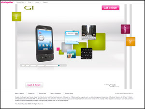 The new T-Mobile G1 with Google cell phone
