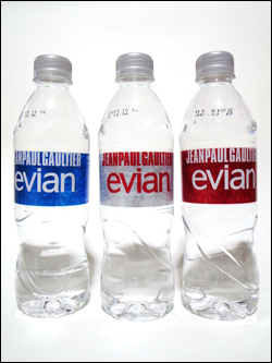 evian year bottle 2009 by Jean-Paul Gaultier