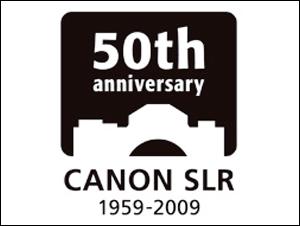 キヤノン一眼レフカメラ誕生50周年記念シンボルマーク