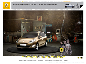 LNouveau Renault Grand Scénic et les tests crétins des lapins crétins
