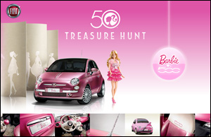 トレジャーハント Barbie × FIAT 500