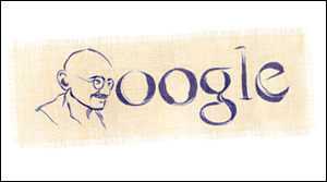 Google ガンジーの誕生日