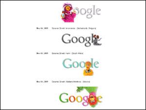 Google Holiday Logos: 2009 October - December