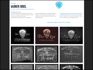 The end titles: Warner Bros. | The Movie title stills collection