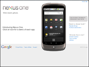 Nexus One Phone - Web meets phone.