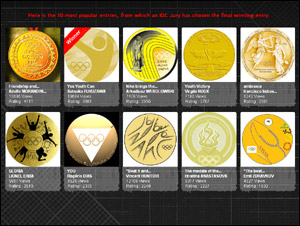 Here is the 10 most popular entries, from which an IOC Jury has chosen the final winning entry.