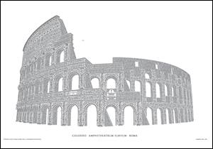 Colosseo Letterpress Poster: Reimagining the Roman Coliseum with type