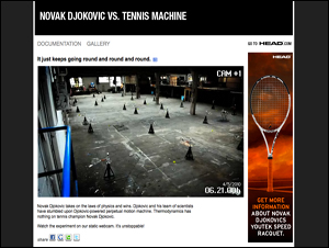 NOVAK DJOKOVIC VS. TENNIS MACHINE