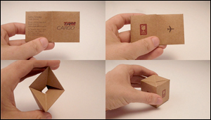 箱になるビジネスカード