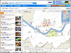 コネスト韓国地図