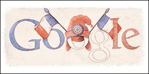 Google fête nationale du 14 juillet
