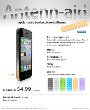Antenn-aid for iPhone 4
