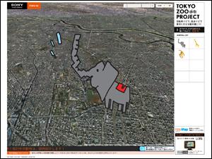 ナビで地上絵 - Tokyo Zoo Project