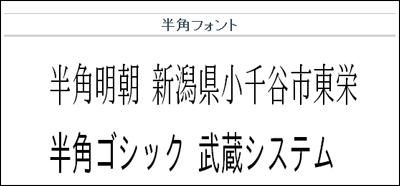 漢字も文字幅半分、Macでも使えるTrueType半角フォント 「TTEdit半角明朝」「TTEdit半角ゴシック」 - 武蔵システム