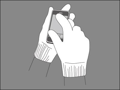 iTouch Gloves スマートフォンなどのタッチパネル式携帯で使えるグローブ