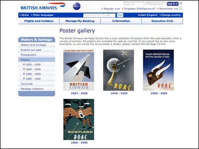 British Airways - Poster gallery