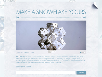 Make a snowflake yours