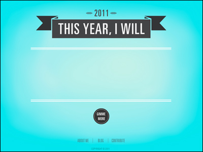 New Year's Resolution Generator