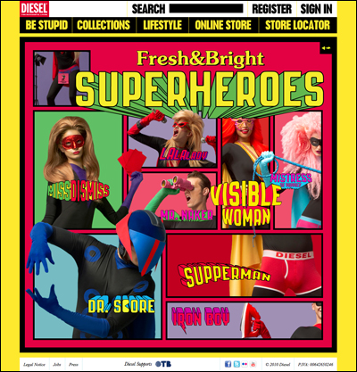 Diesel Fresh & Bright Superheroes - Making the world a brighter place