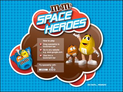 SPACE HEROES - m&m's