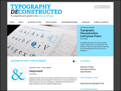 Typography Deconstructed | A comprehensive guide to the anatomy of type.