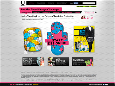 Redesign feminine care in Ban the Bland Design Challenge – U by Kotex