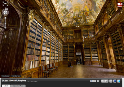 World's Largest indoor Photo: Strahov Philosophical Library, Prague - 40 Gigapixel 360º Panorama