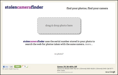 Stolen Camera Finder