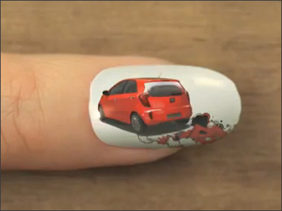Picanto nail art animation - KIA
