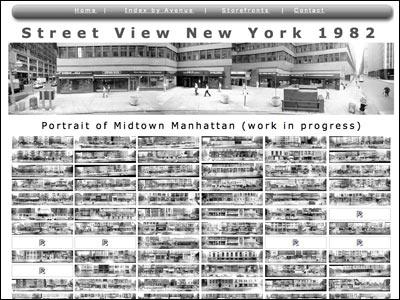 Photo Panorama Index to  Street Views of New York City 1982