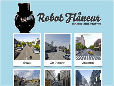 Robot Flâneur: Exploring Google Street View