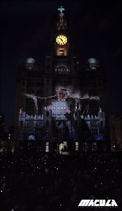 Royal Liver Building100周年とMuseum of Liverpoolのオープン記念、イギリスの歴史を凝縮した3Dプロジェクションマッピング