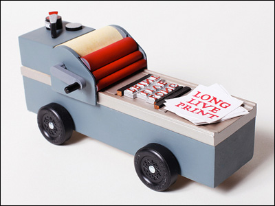 Letterpress Pinewood Derby Car