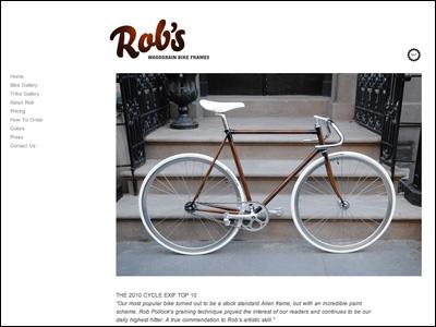 Hand Painted Woodgrain Bikes