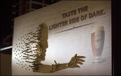 Newcastle Brown Ale: Shadow Art Installation