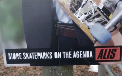 Alis - Valgplakat Skate Attack (Election Poster Skate Attack