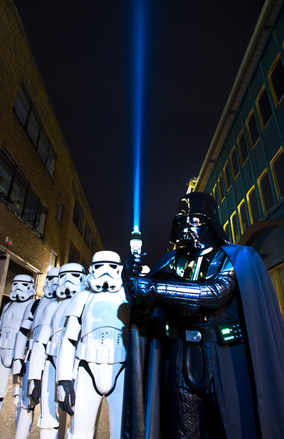 BT Tower becomes Star Wars lightsaber