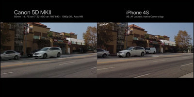 iPhone 4S / Canon 5d MKII Side by Side Comparison