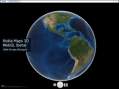 Nokia Maps 3D WebGL (beta)