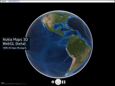 Nokia Maps 3D WebGL (beta)