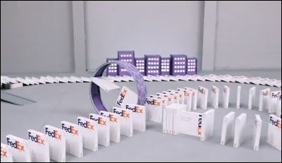 FedEx Dominoes