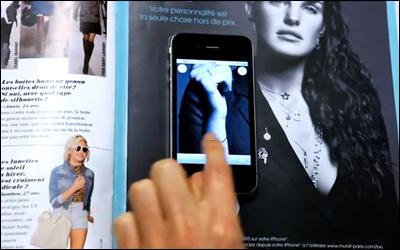 MURAT PARIS: An interactive press advertisement for fashionista geekettes.
