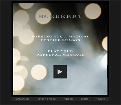My Burberry Festive Card