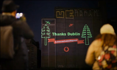 Vodafone Christmas - Laser Graffiti