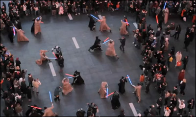 STAR WARS The Old Republic - Times Square Freeze Mob 12.20.11