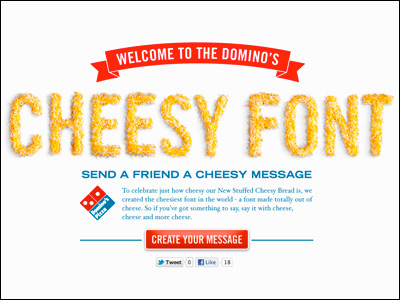 Cheesy Font | More Domino's