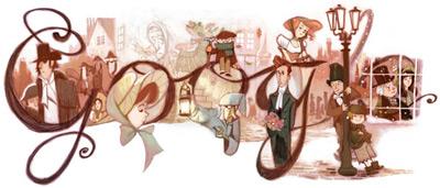 Google チャールズ・ディケンズ生誕200周年