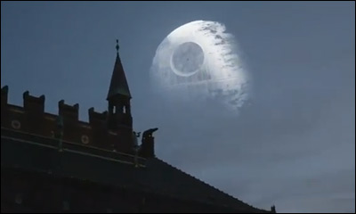 Death Star over Copenhagen