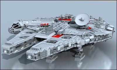 Lego Millennium Falcon Stop Motion Assembly 3d
