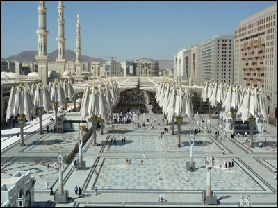 Madinah Haram Piazza Shading Project